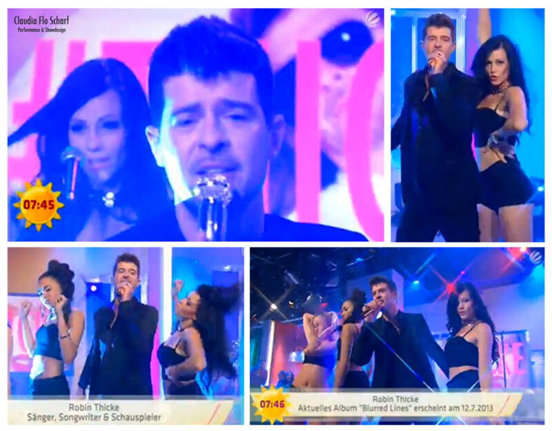 TV Performance mit Robin Thicke